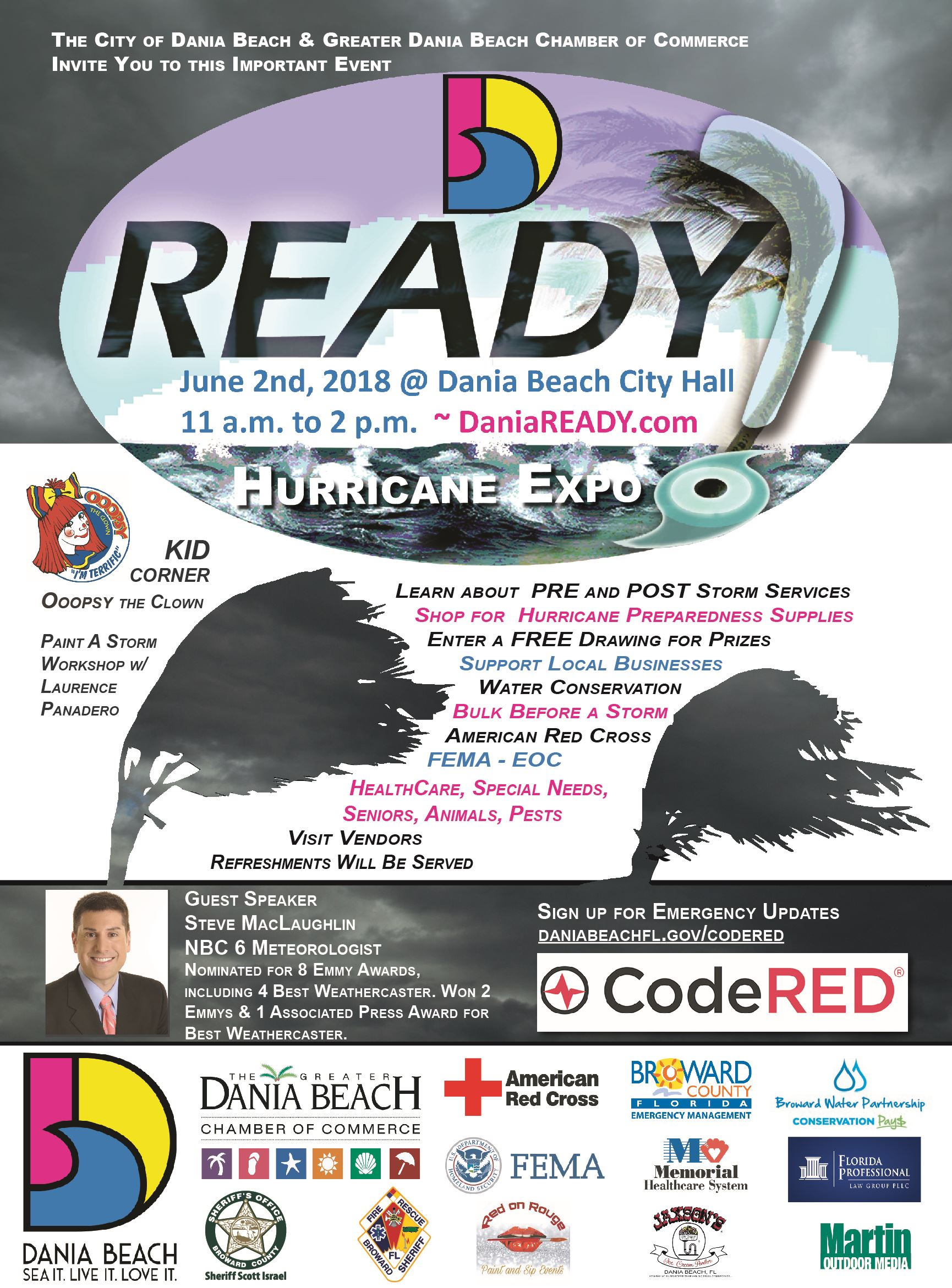 Dania Beach Hurricane Expo Poster 2018