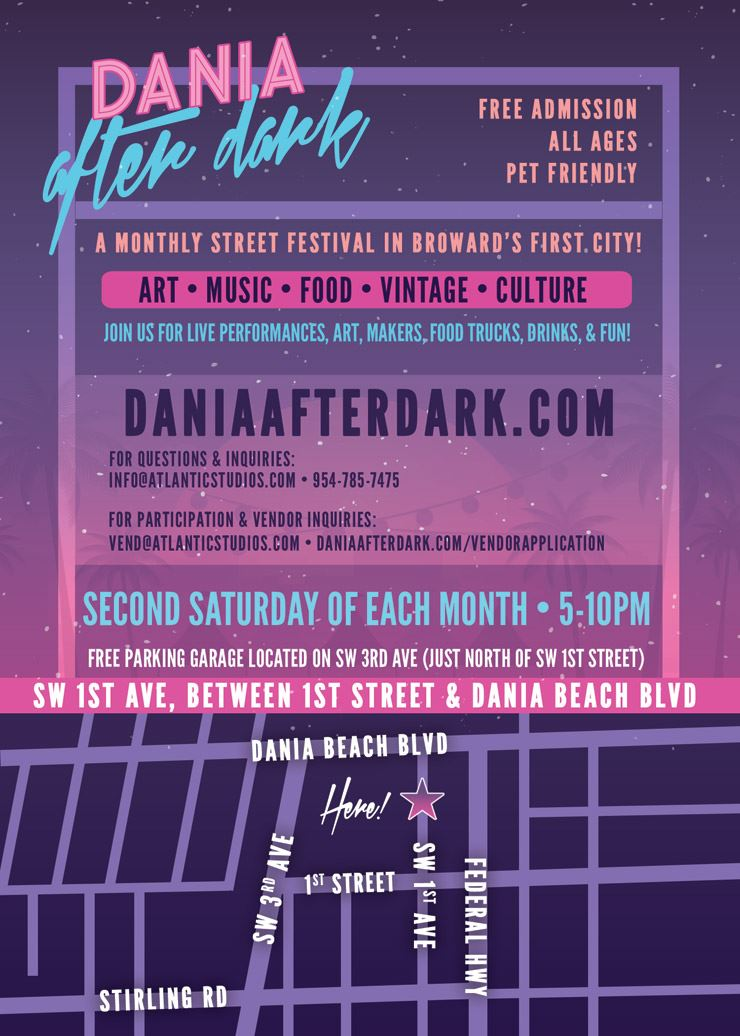 Dania-After-Dark-Street-Festival - Second Saturday of each Month