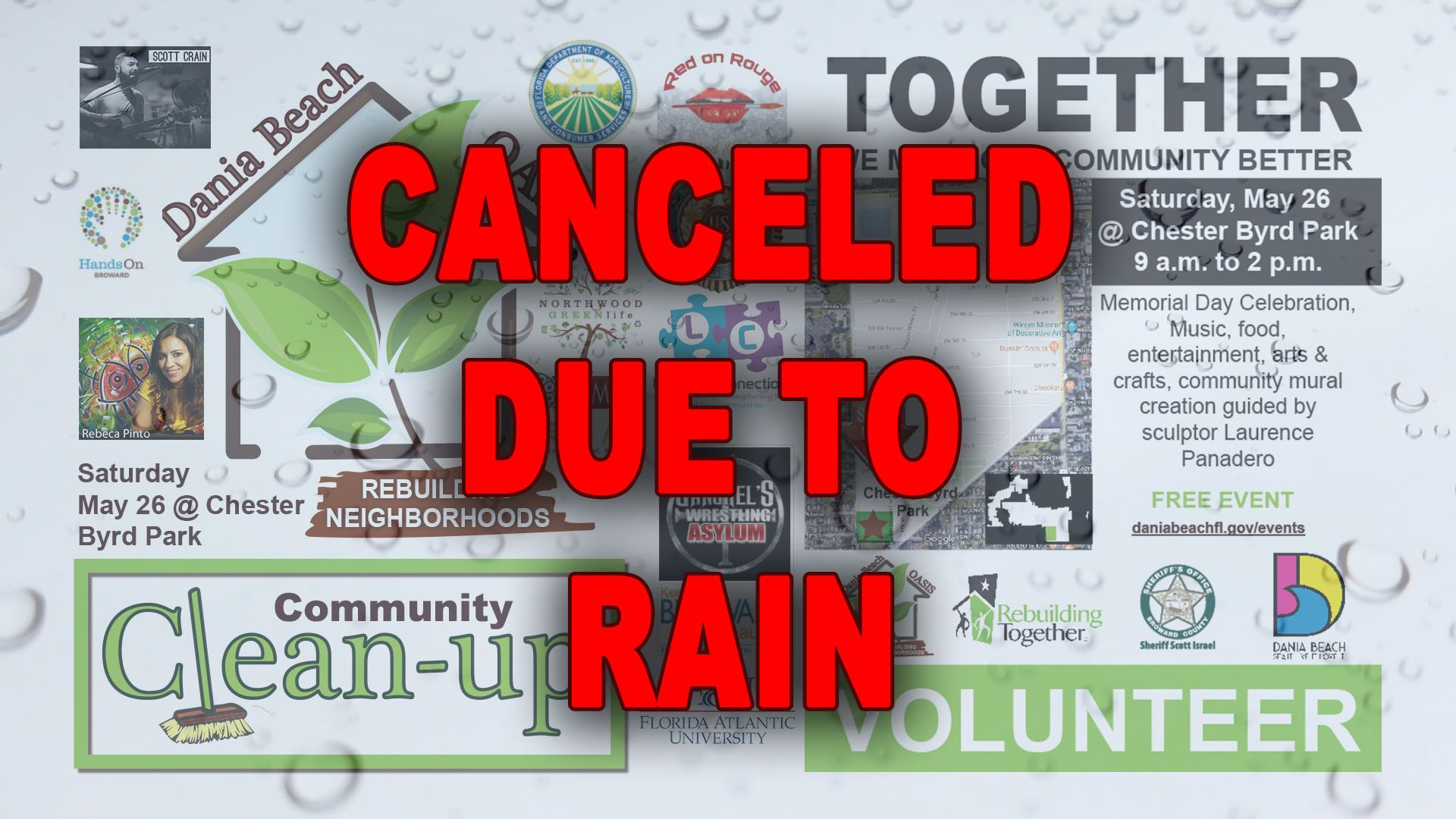 Canceled Due to Rain Oasis Cleanup 2018
