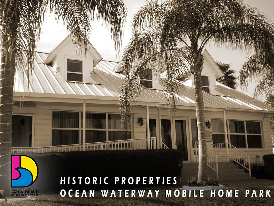 Ocean Waterway Mobile Home Park Office Building Dania Beach Historic Properties