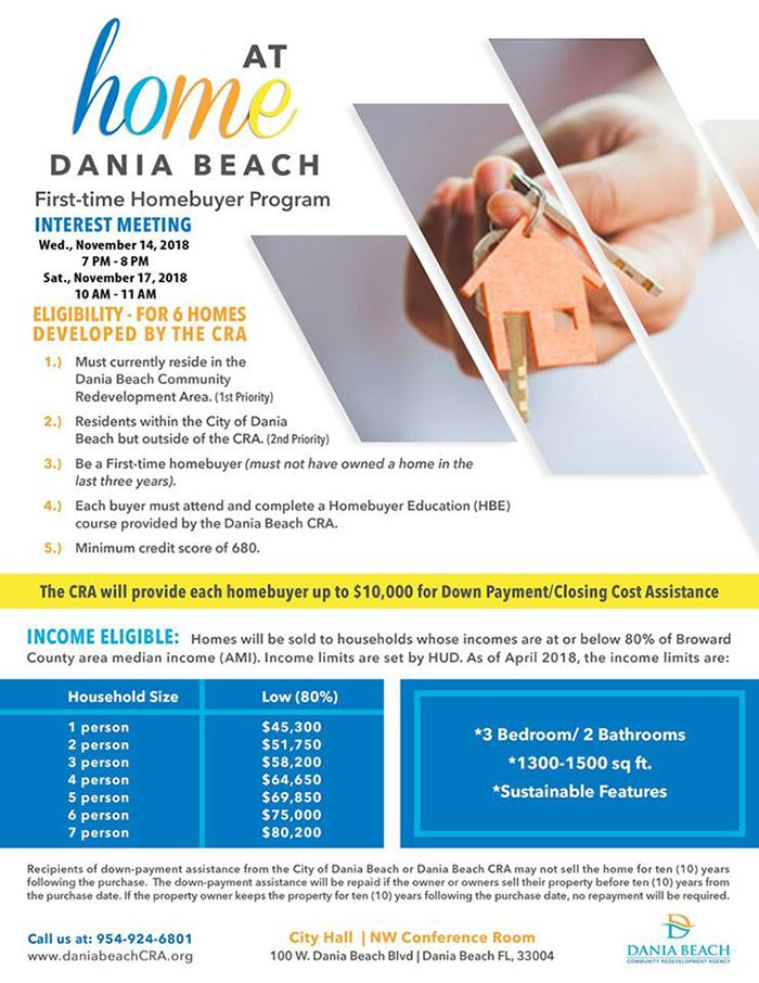 At Home dania beach First Time Homebuyer