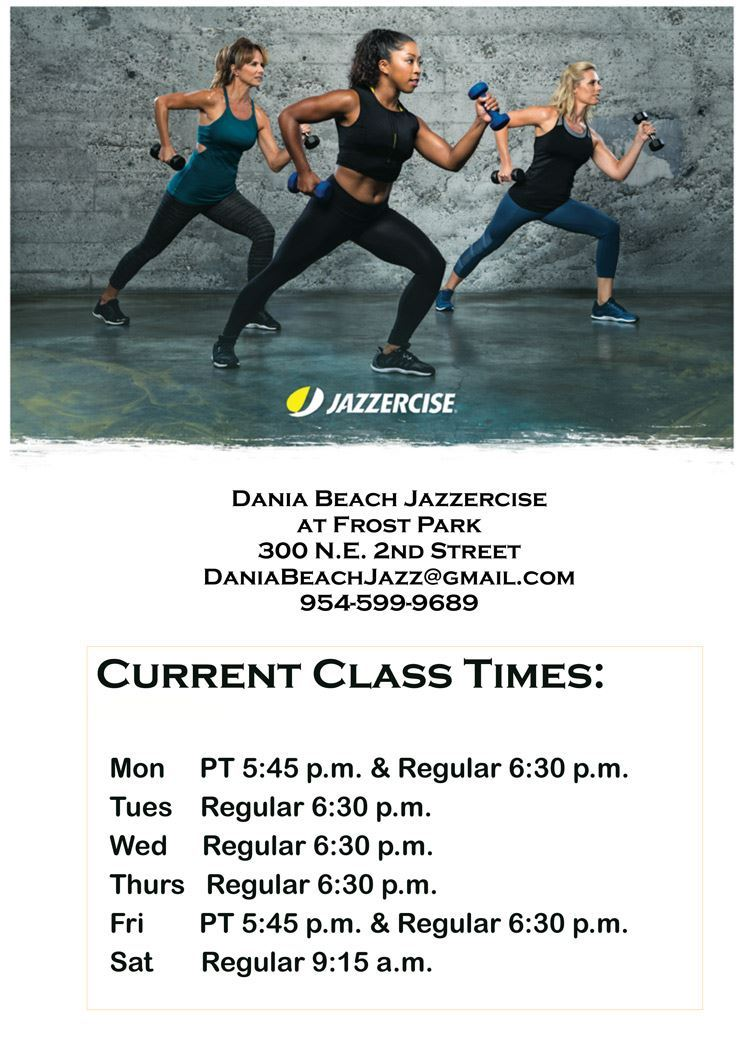 Jazzercise Classes Dania Beach at Frost Park