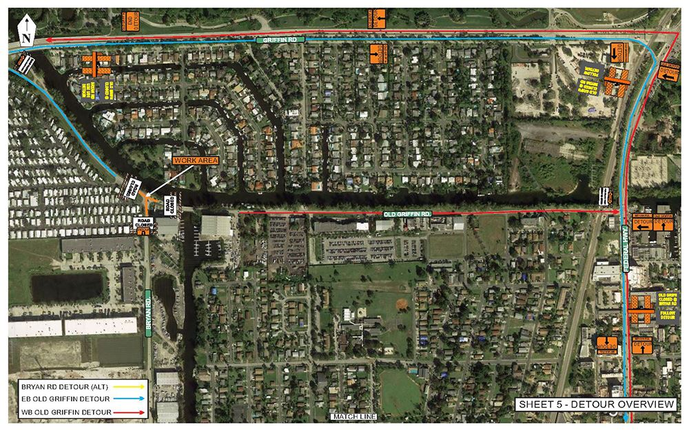 Old Griffin / Bryan Intersection Construction in Dania Beach