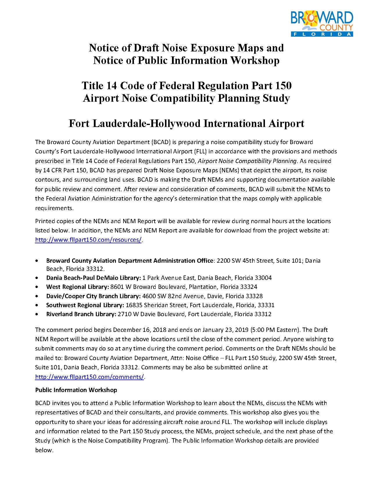 FLL P150 Pub Wkshp Announcement