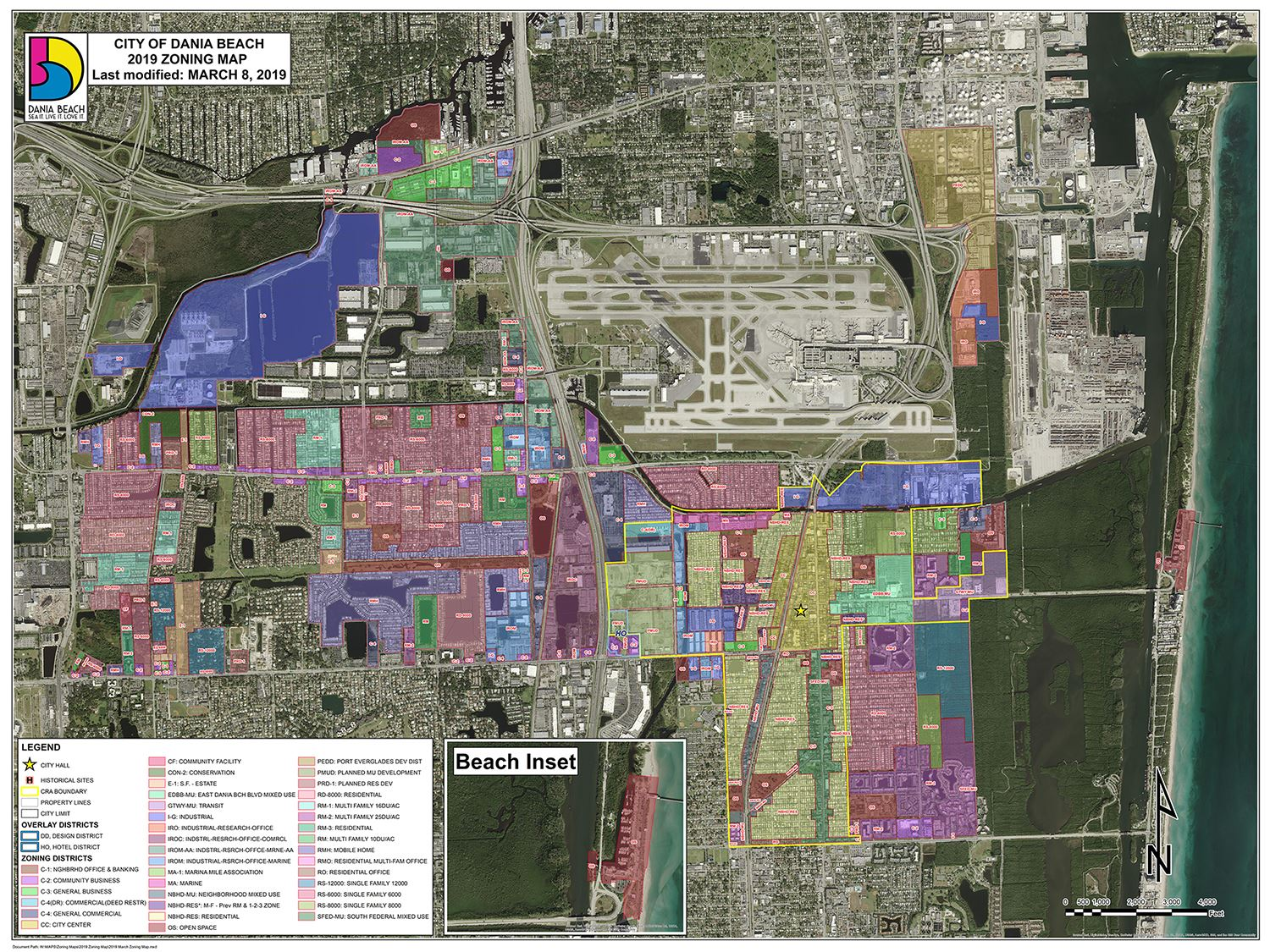 Dania Beach Zoning Map