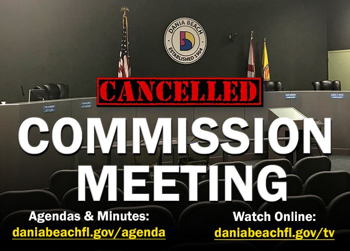 Commission Meeting Cancelled