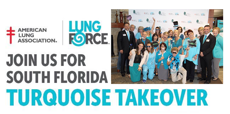 Dania Beach is joining in the Turquoise Takeover against lung cancer.