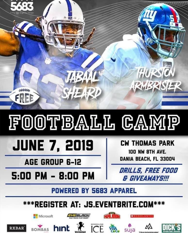 Jabaal Sheard Free Camp Dania Beach