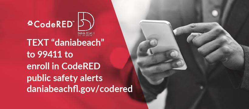 Dania Beach CodeRED text