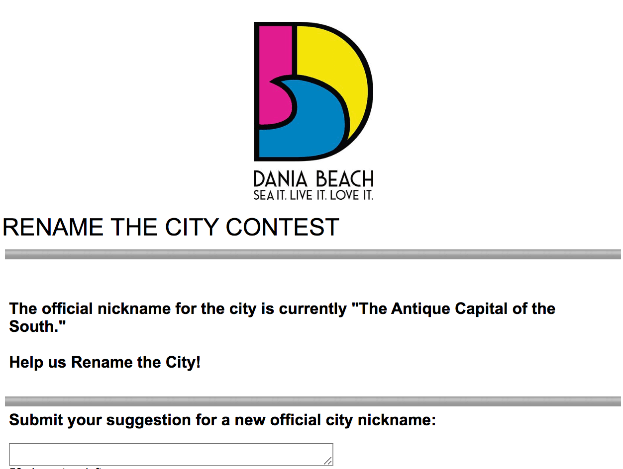 Rename the City Contest - Dania Beach