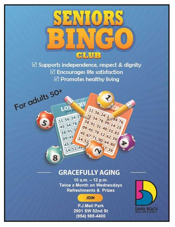 Seniors Bingo Dania Beach Gracefully Aging