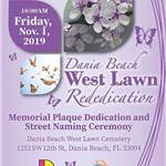 West Lawn Rededication Dania Beach