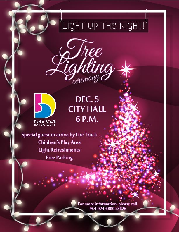 Holiday Tree Lighting Dania Beach