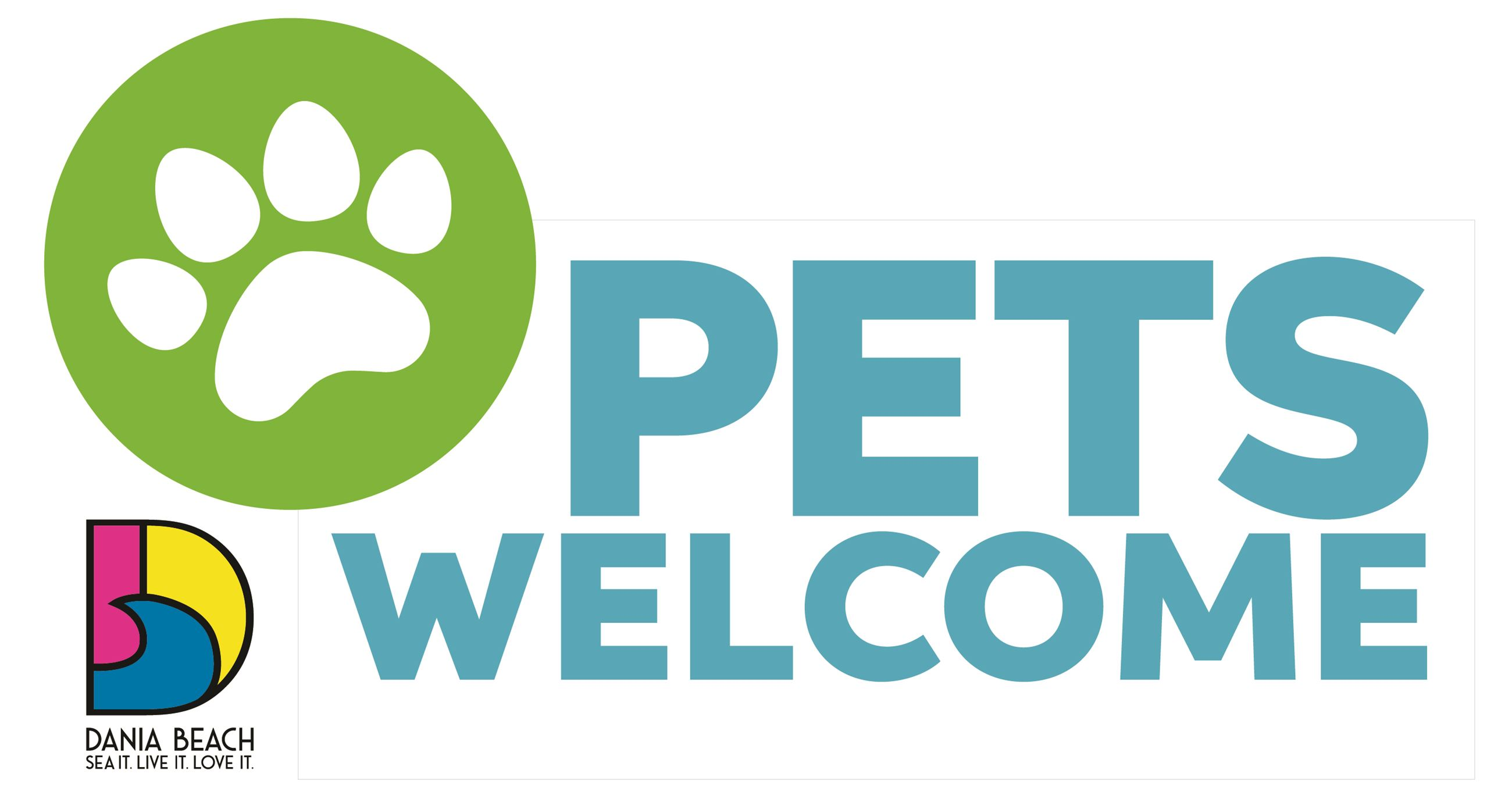 Pets Welcome Sign Dania Beach SM