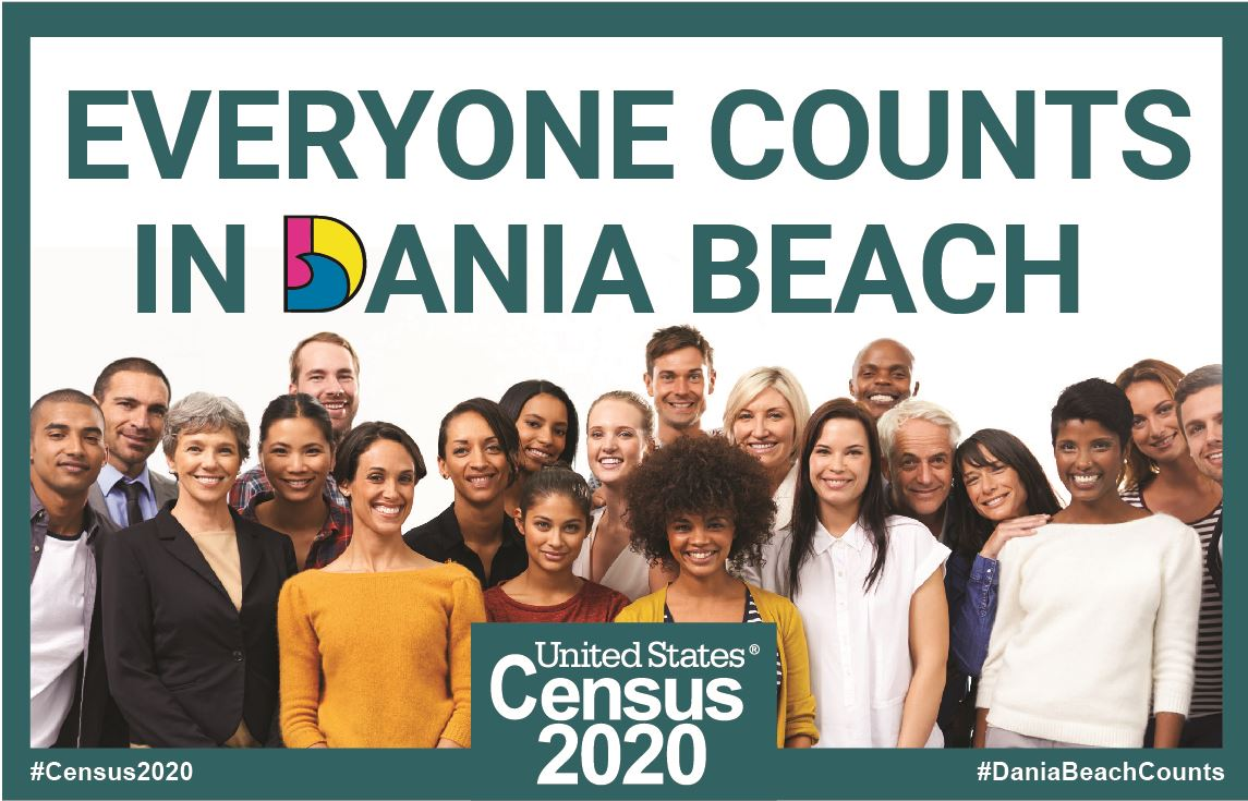 Census 2020 - Everyone Counts in Dania Beach Florida