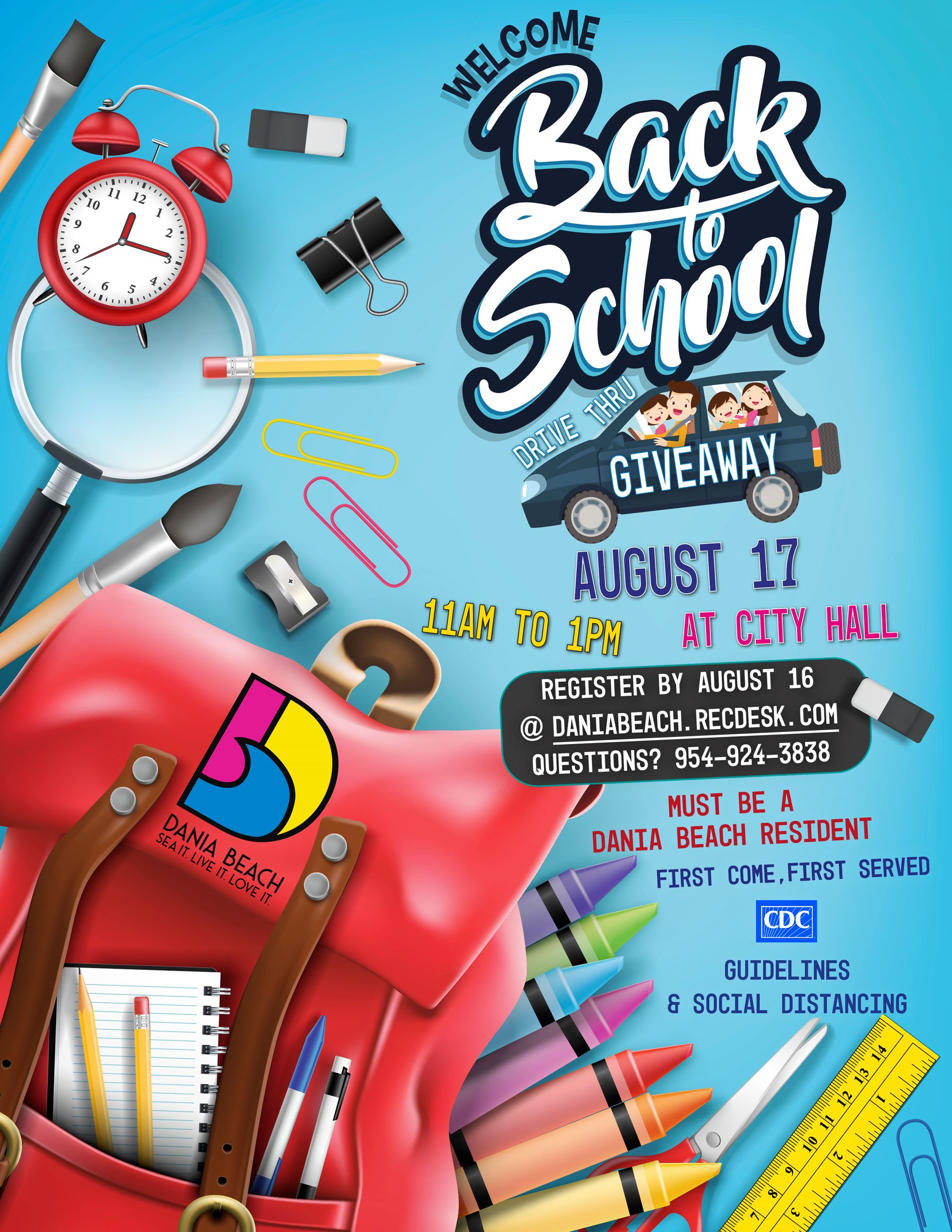 Back to School Drive-thru Giveaway in Dania Beach