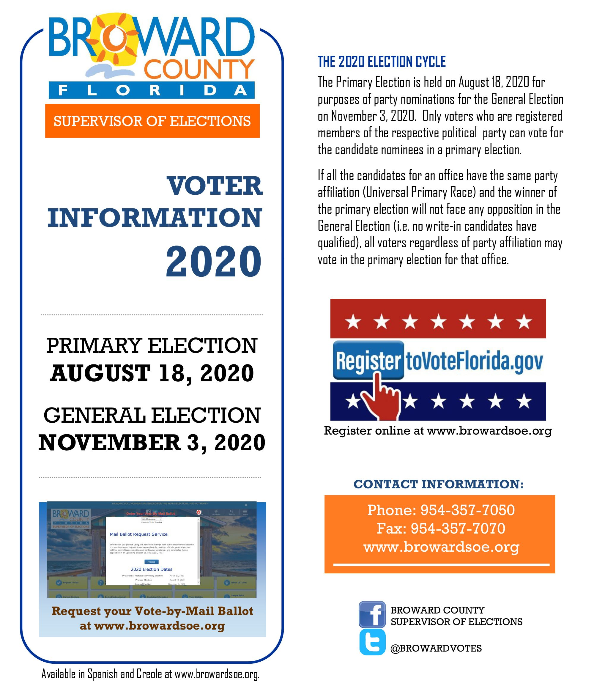 Voter Information 2020 Brochure