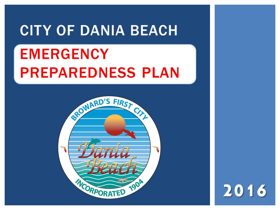 Dania Beach Emergency Preparedness presentation