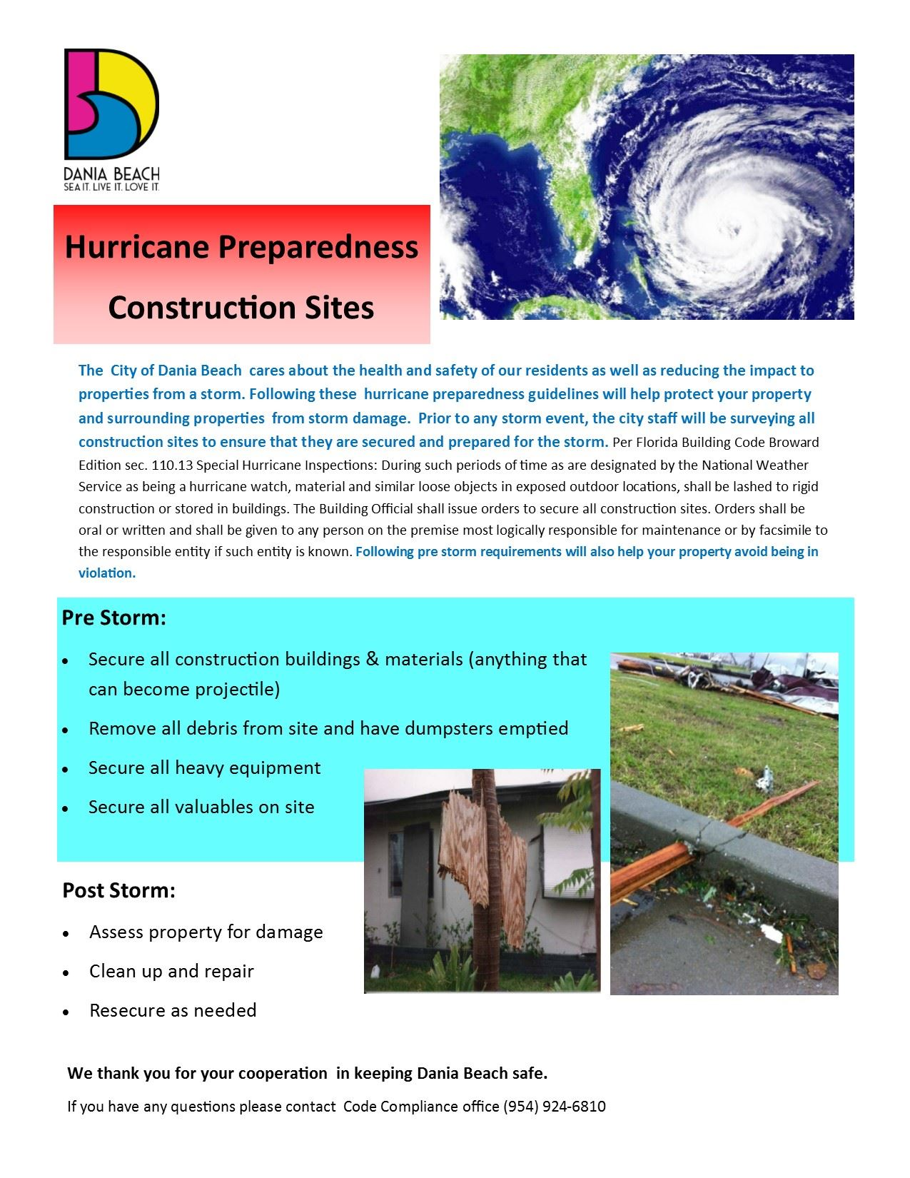 Hurricane Preparedness Construction Sites