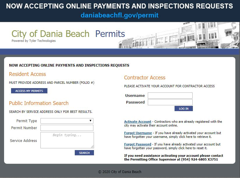 City Of Dania Beach Inspections