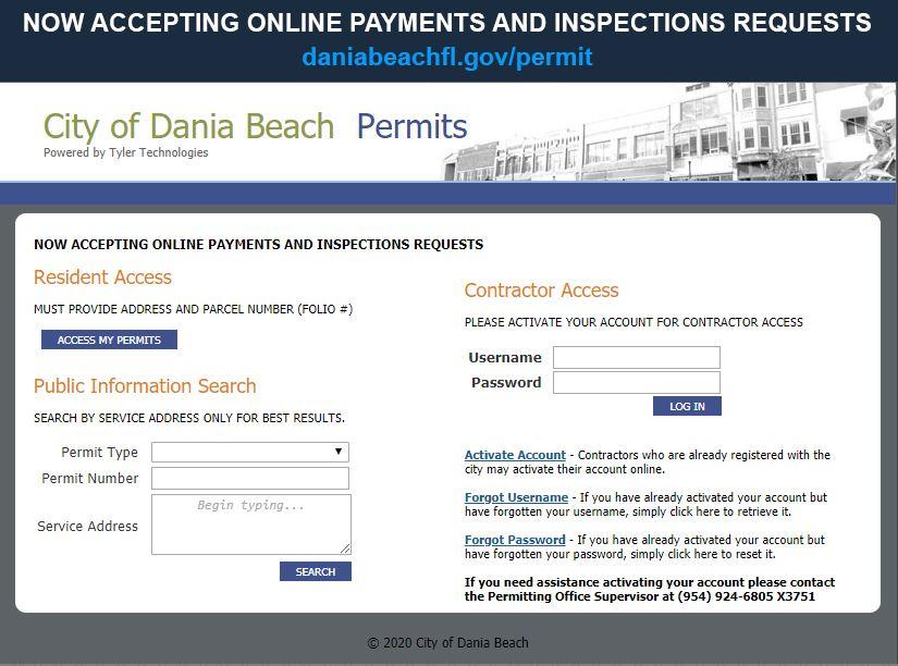 City Of Dania Beach Online Services