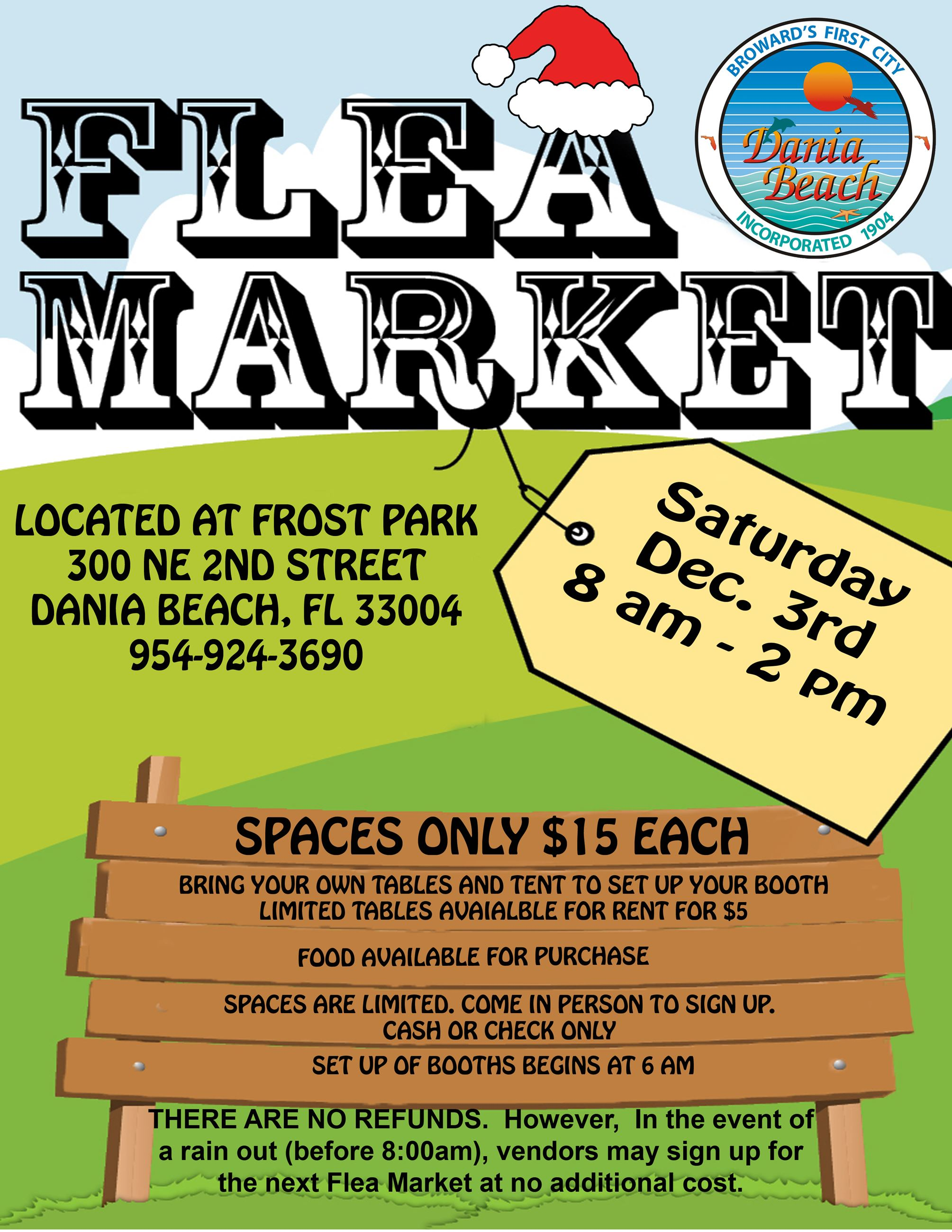 FLEA MARKET December Dania Beach Frost park