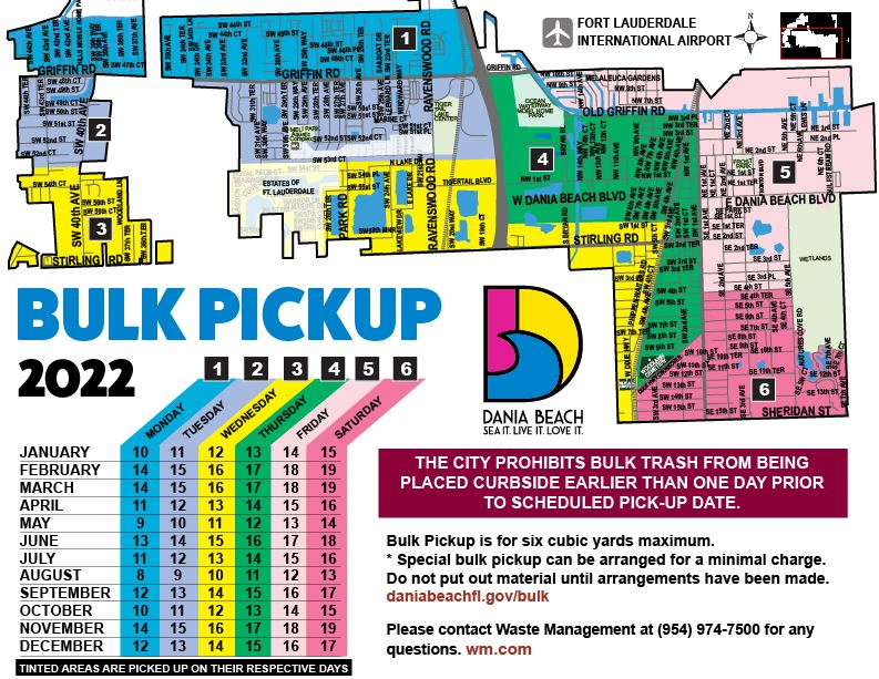 Dania Beach Bulk Pickup Map 2018