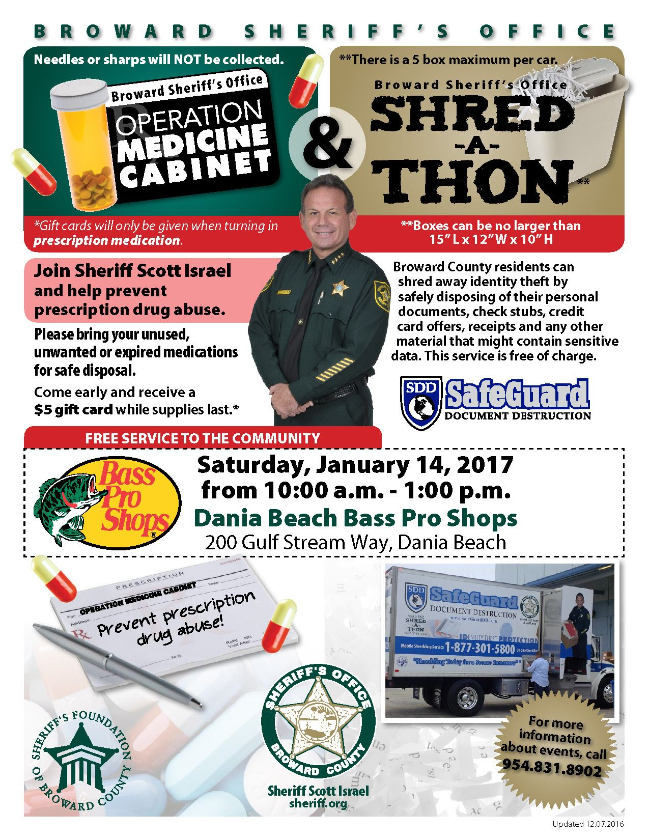 Jan 14 Shred-a-Thon & Operation Medicine Cabinet
