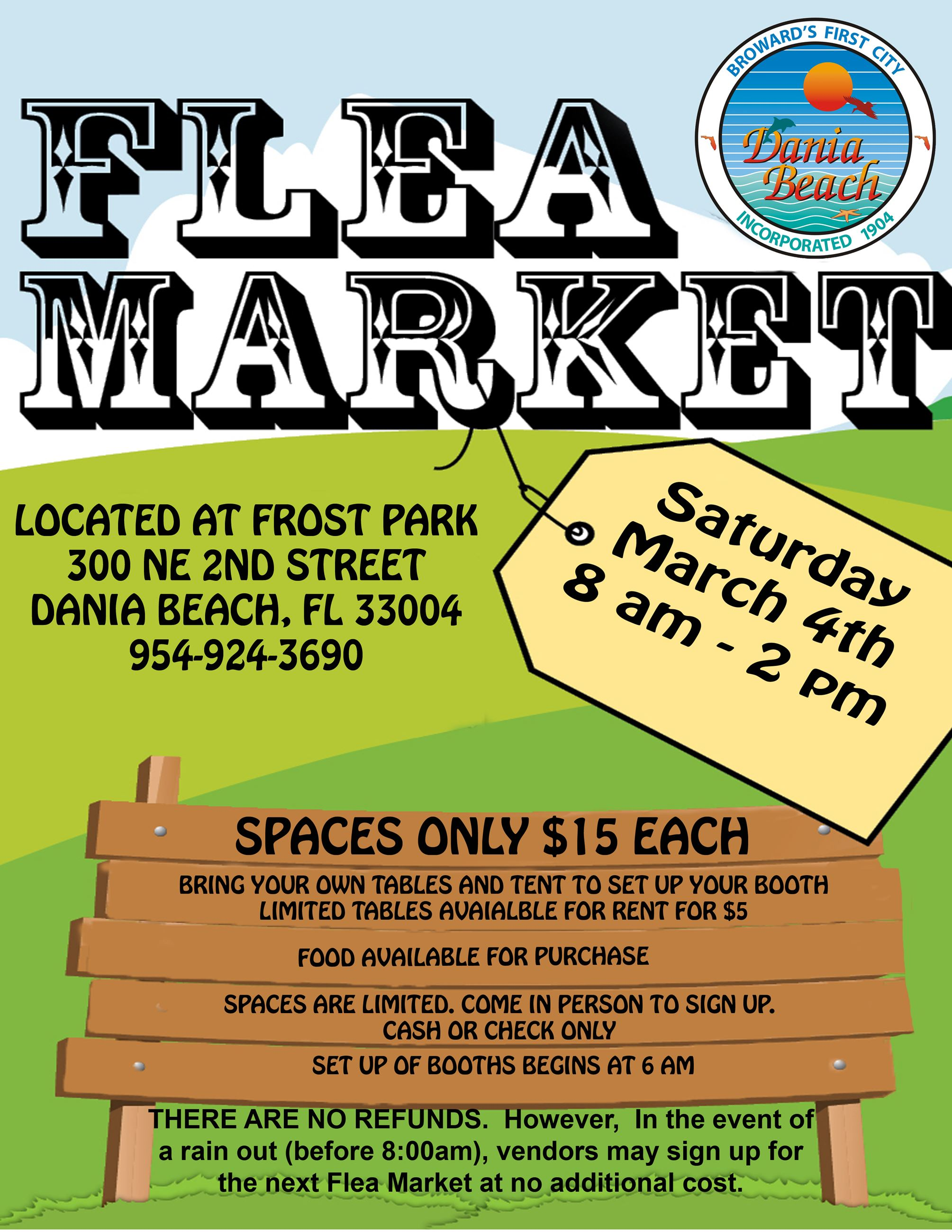 FLEA MARKET March Frost Park Dania Beach