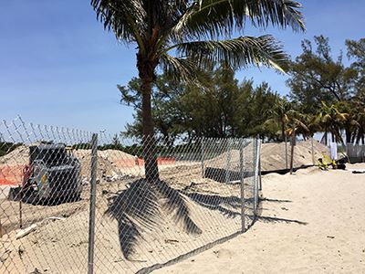 Dania Beach Ocean Park Beach Construction
