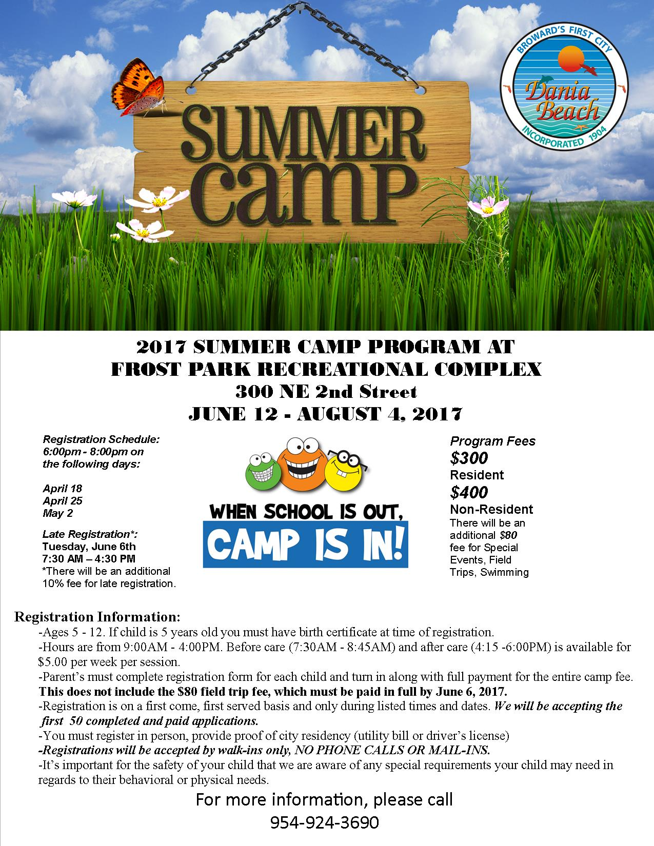 June 12 Summer Camp Frost Park