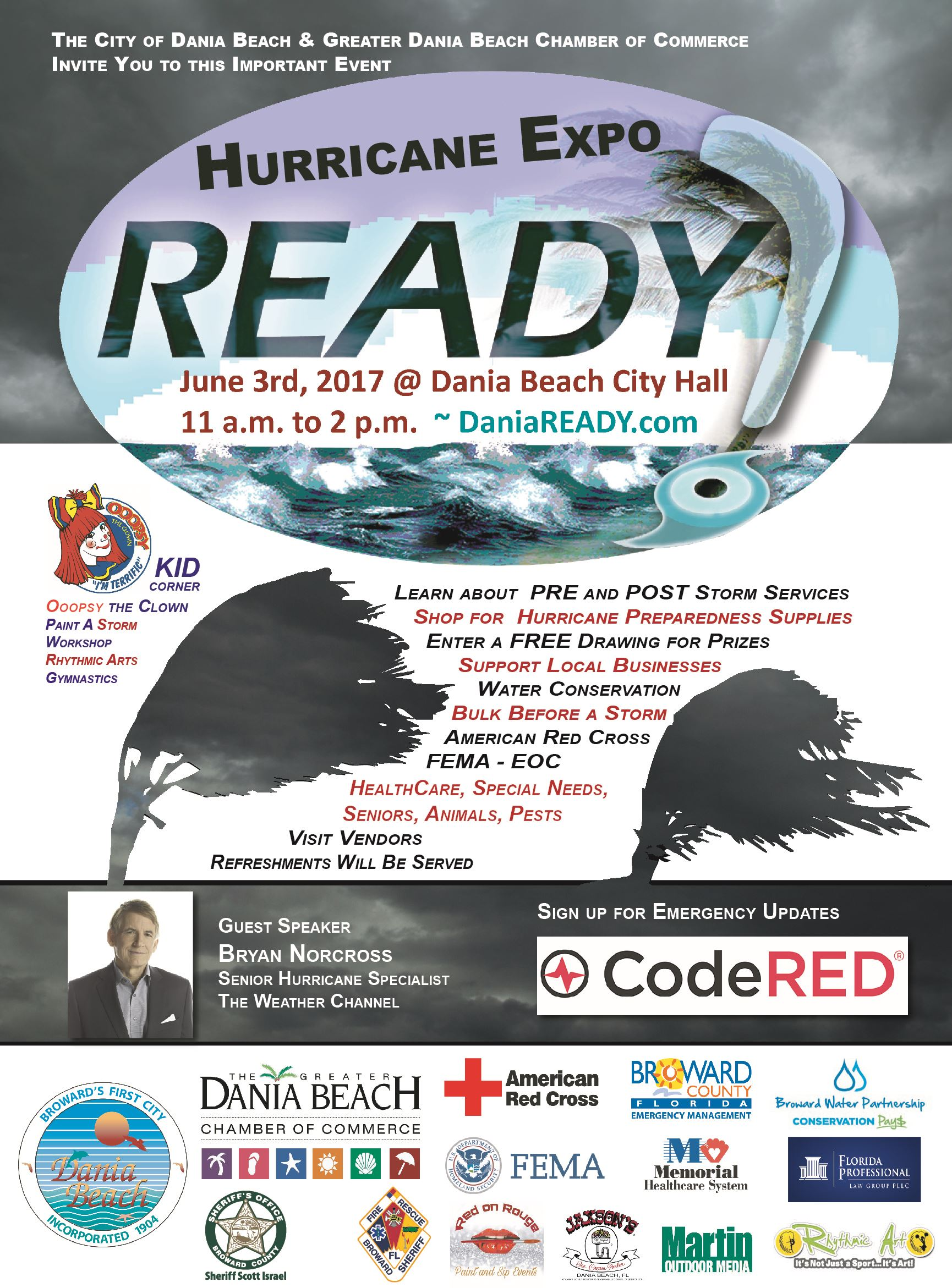 Hurricane Expo DaniaReady Codered Emergency Notification Poster
