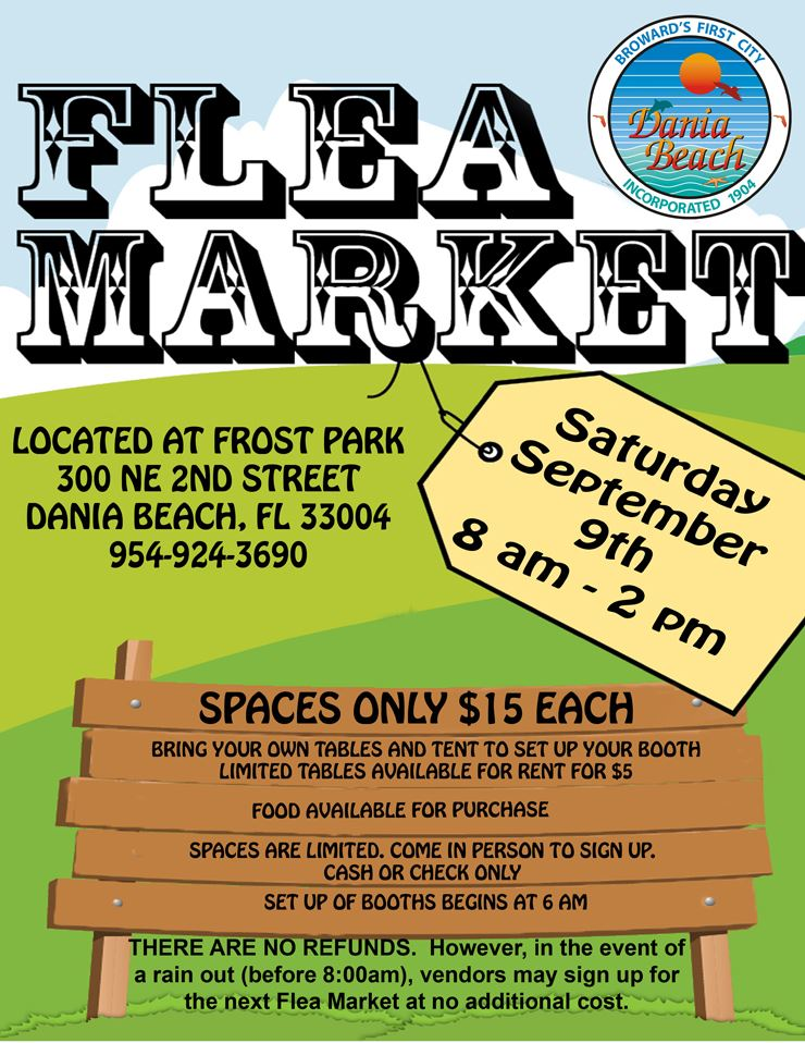 Sept 9 Flea Market