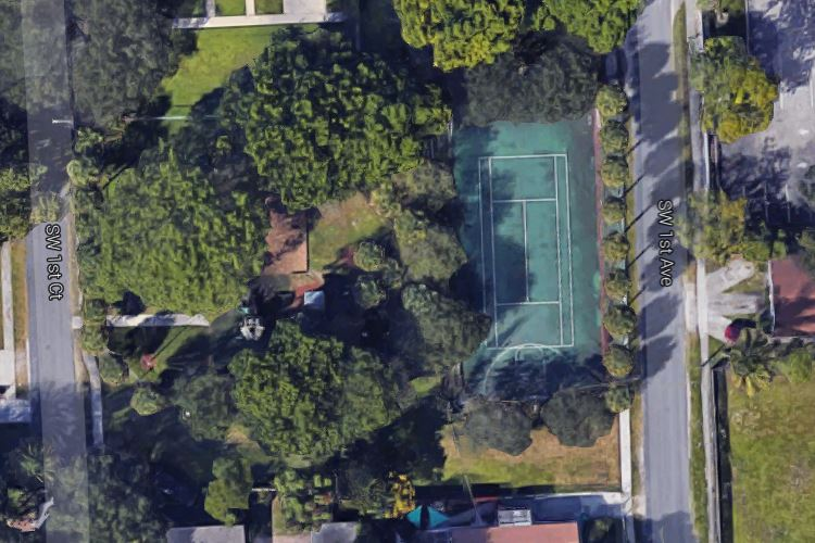 Dania Beach Park Mullikin Tennis Court