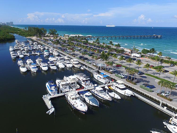 Ocean Park Beach Fishing Pier Marina City Of Dania Beach