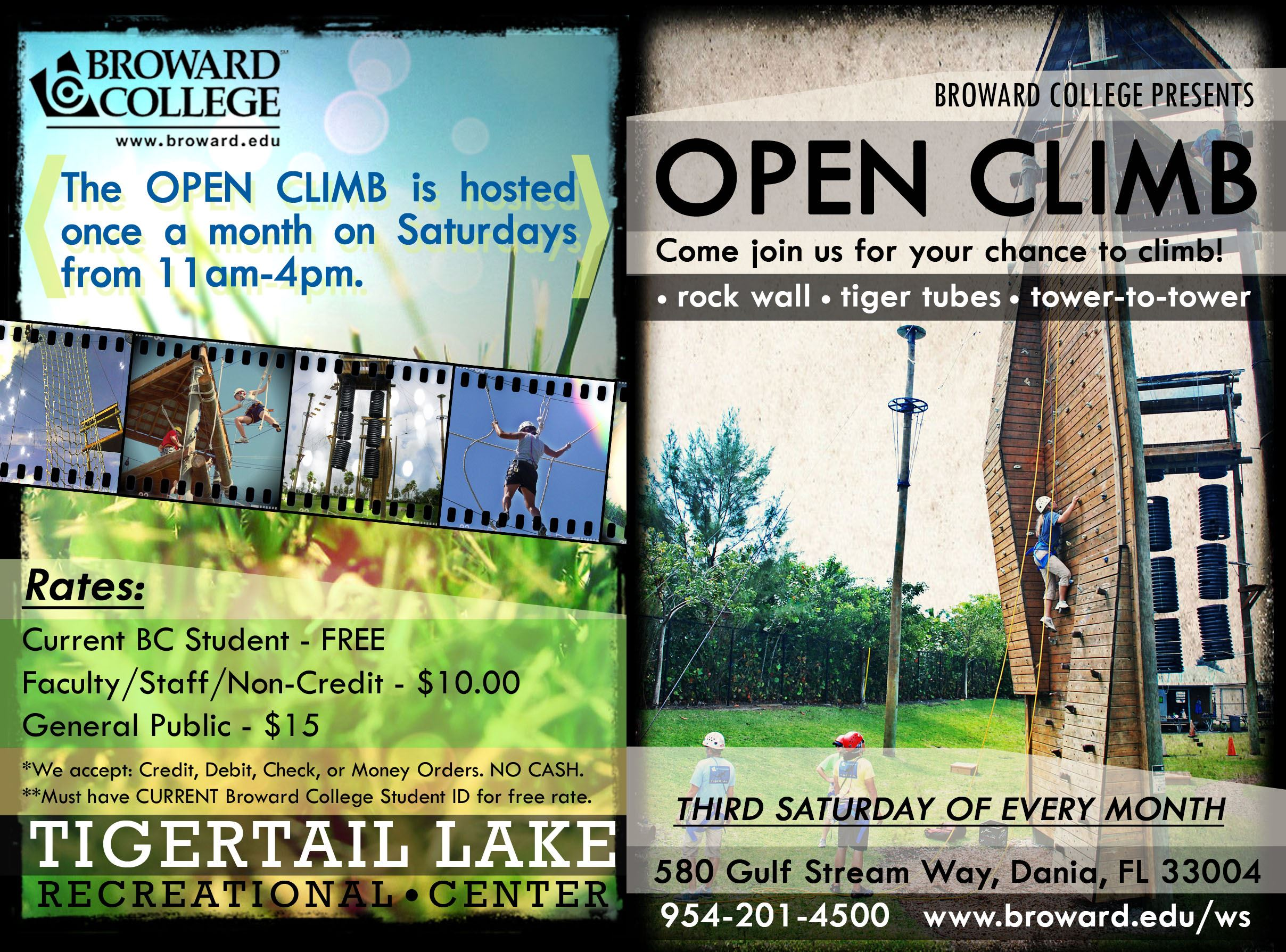 Open_Climb Tigertail Lake Center Dania Beach