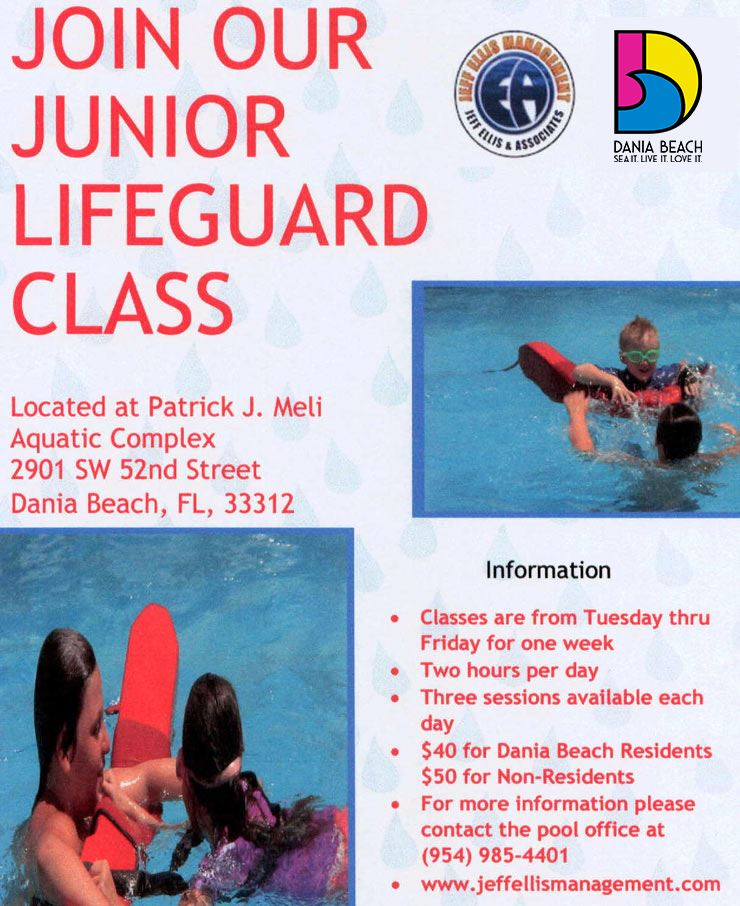 Junior Lifeguard Class at PJ Meli Aquatic Complex