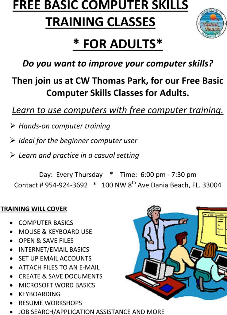 Computer Classes at CW Thomas Park Dania Beach