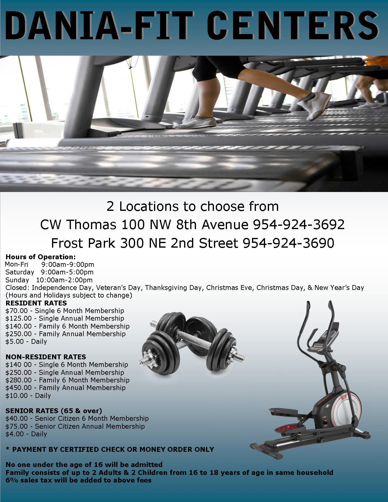 Dania Fit Gym at CW Thomas Park Dania Beach