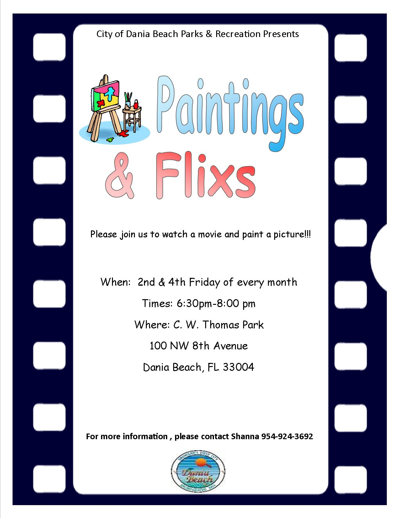 Painting Class Painting Night at Dania Beach CW Thomas Park