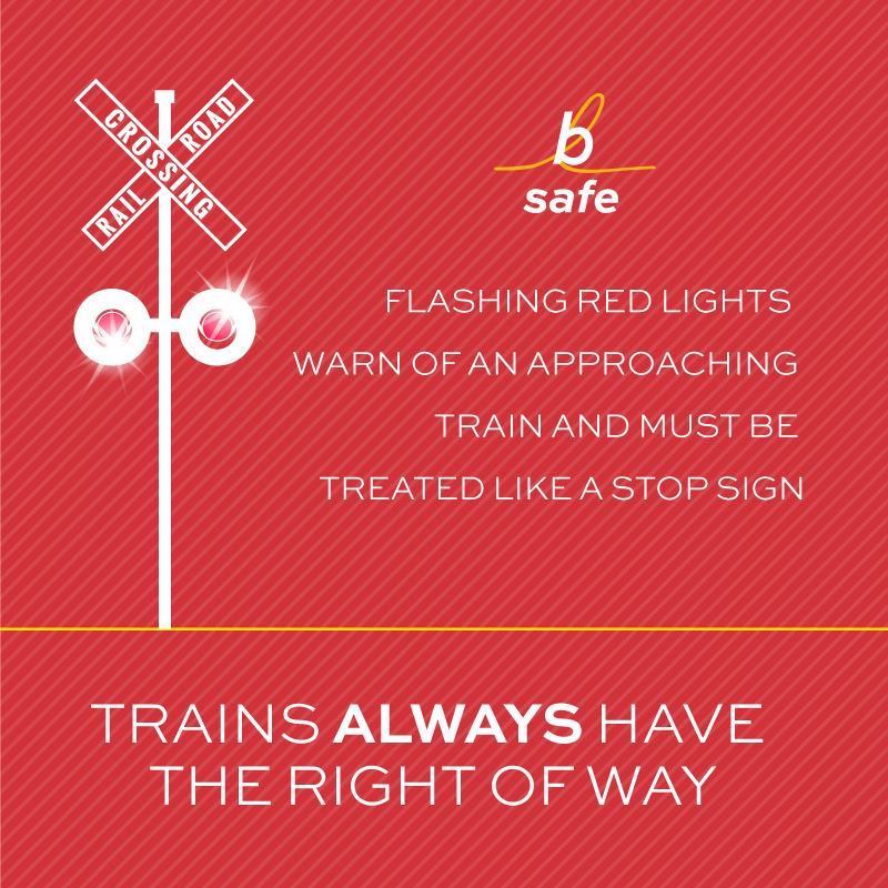 train safety tip - stay off the tracks