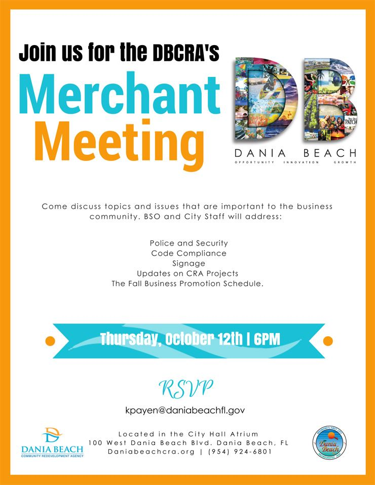 Oct 12 DBCRA's Merchant Meeting