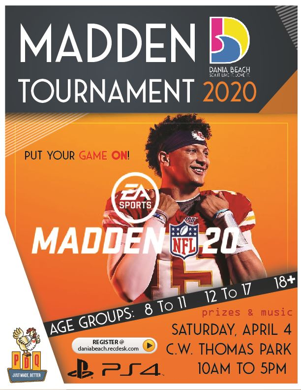 Madden Tournament Ps4 Game Dania Beach