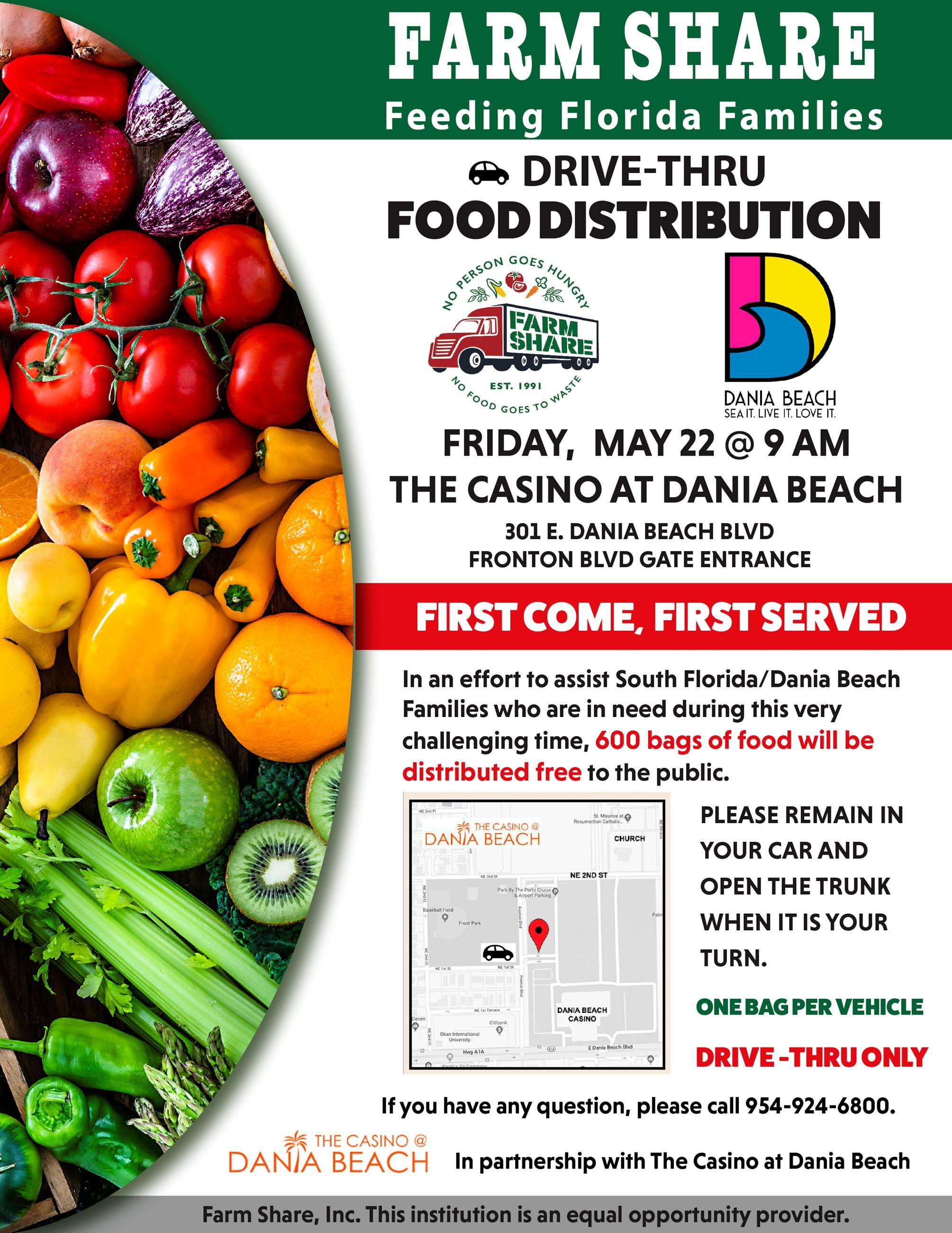 Farm Share Dania Beach Food Distribution