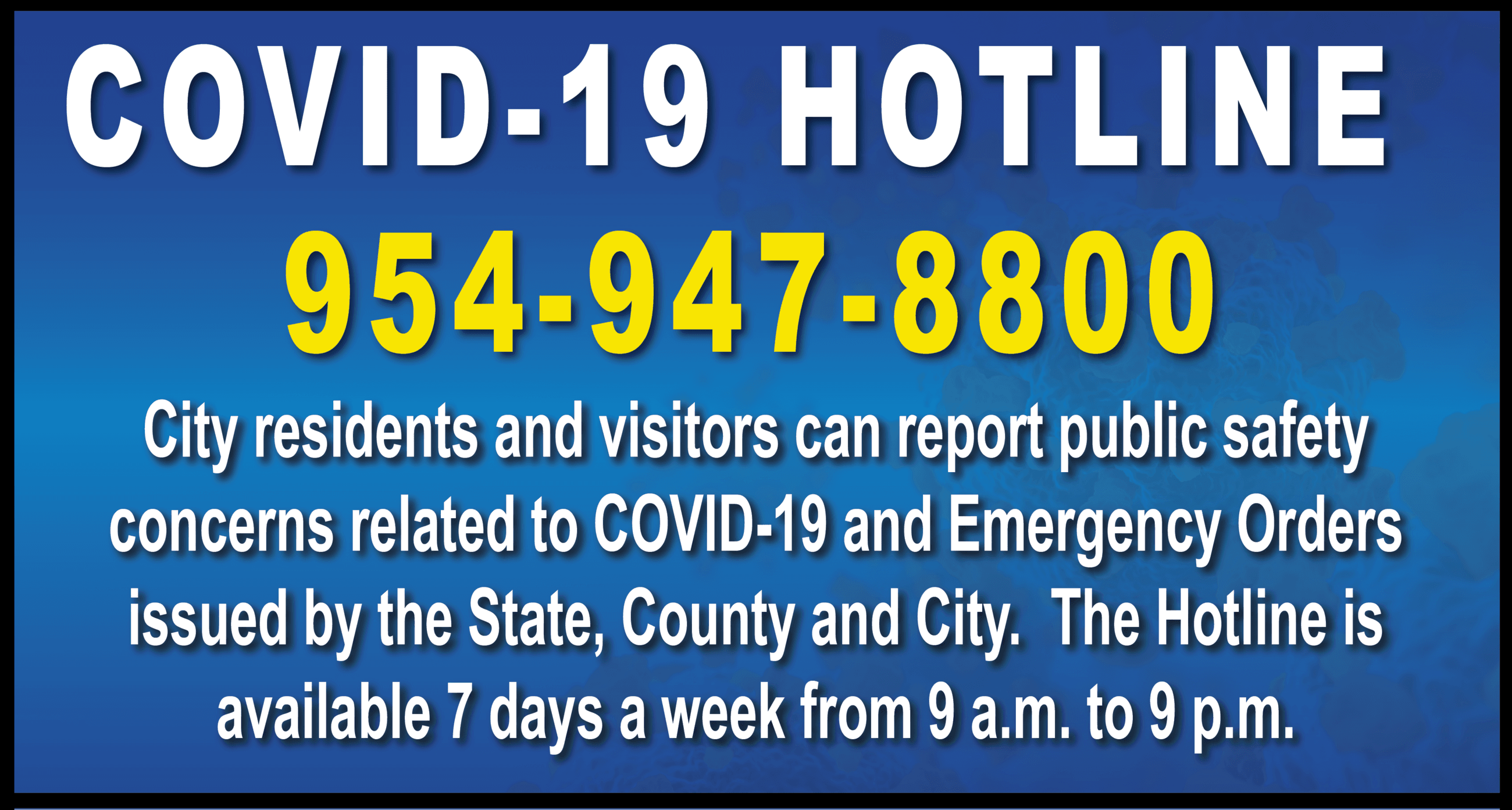 Covid19 HOTLINE Dania Beach