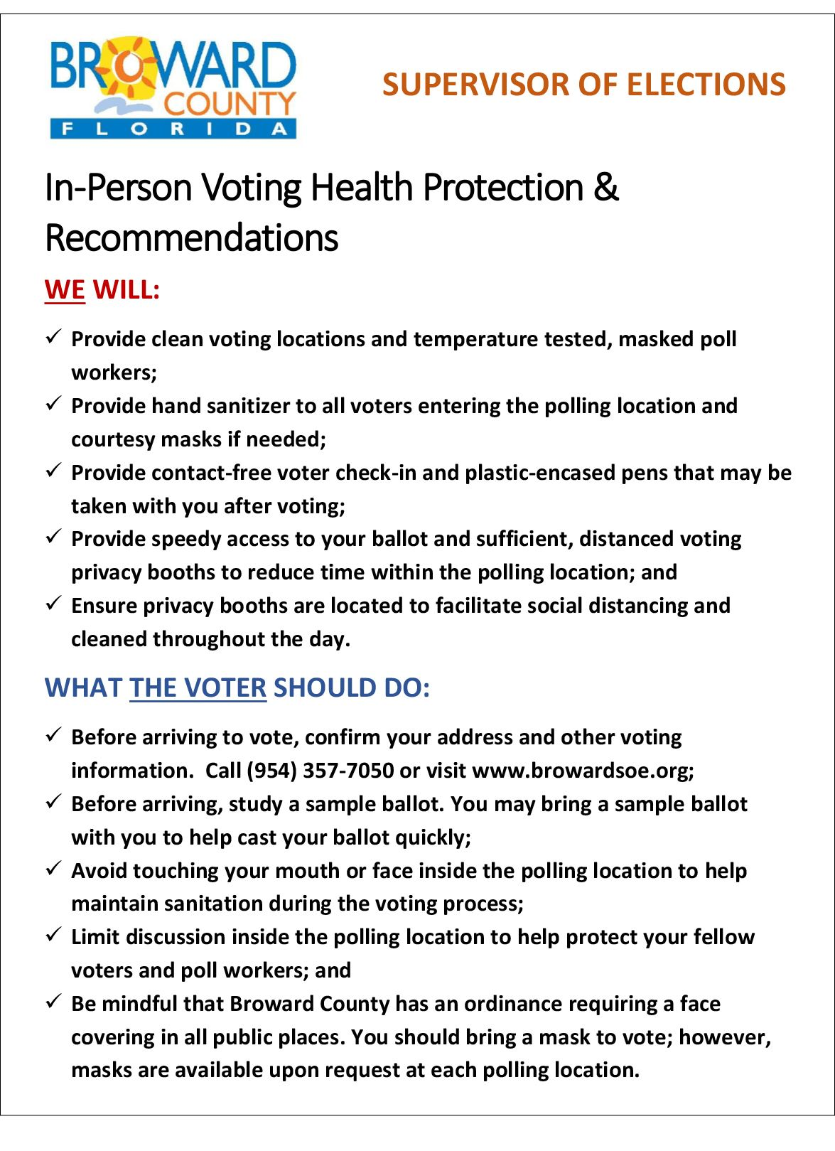 In-Person Voting Health Protection and Recommendations_