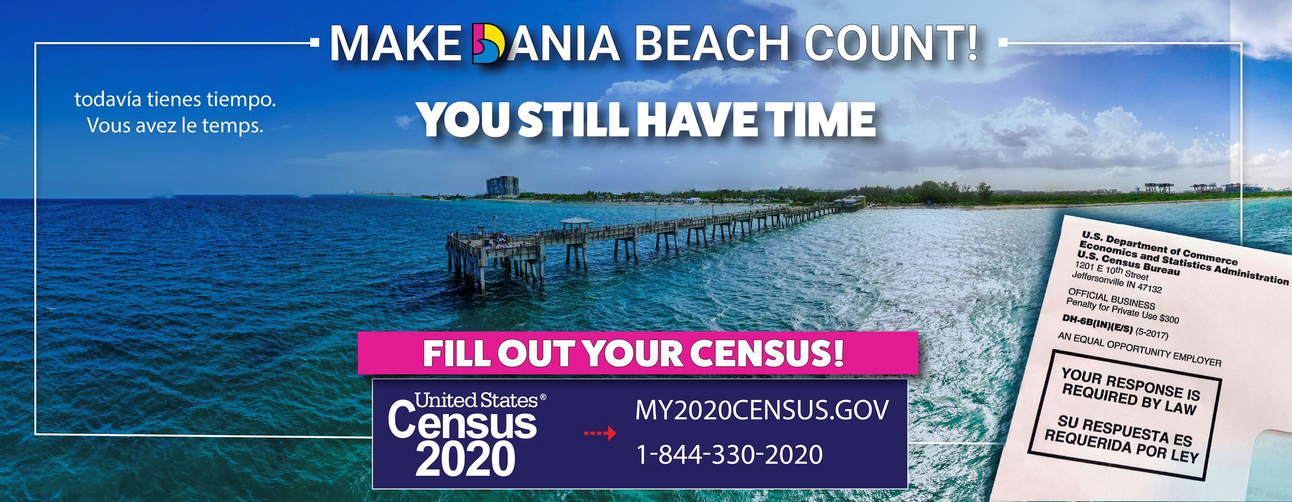 Dania Beach 2020 Census - It's Not Too Late. Everyone Counts in Dania Beach! daniabeachfl.gov/cen