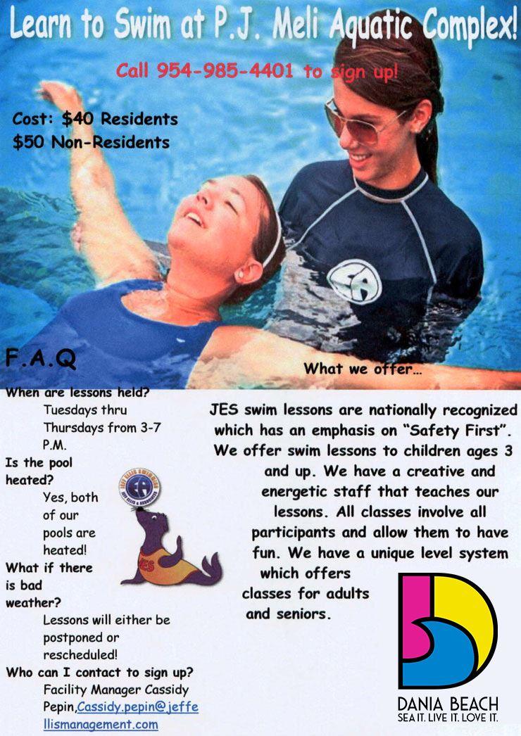 Swimming Lessons at PJ Meli Park