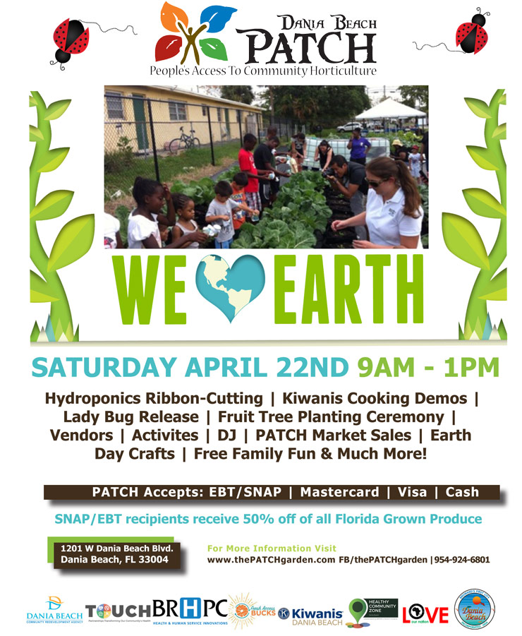 Dania Beach Patch event on April 22, 2017 at Dania Beach Patch from 9 AM to 1 PM