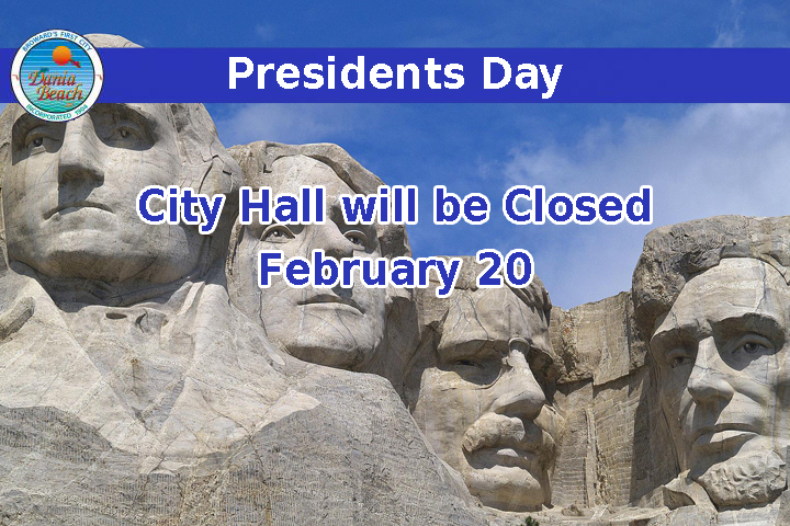 Presidents Day - City Hall will be closed